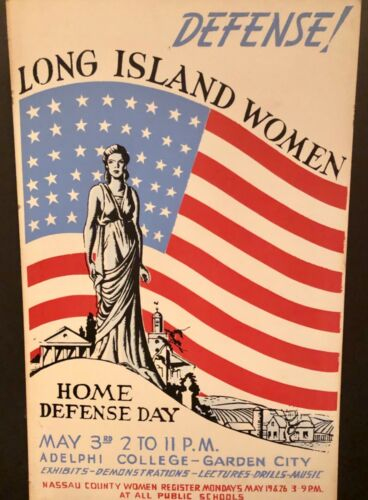 ~ORIGINAL WPA~HOME DEFENSE POSTER~1938~SILK SCREEN ON BOARD~NYS WPA~EXCELLENT!