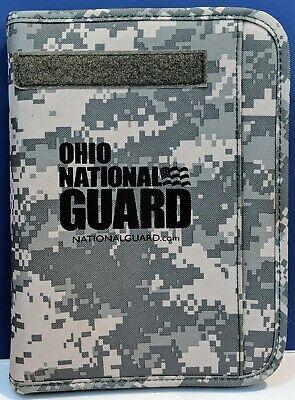 Oh National Guard Training Zippered Binder Planner Organizer Notebook Camo Clean