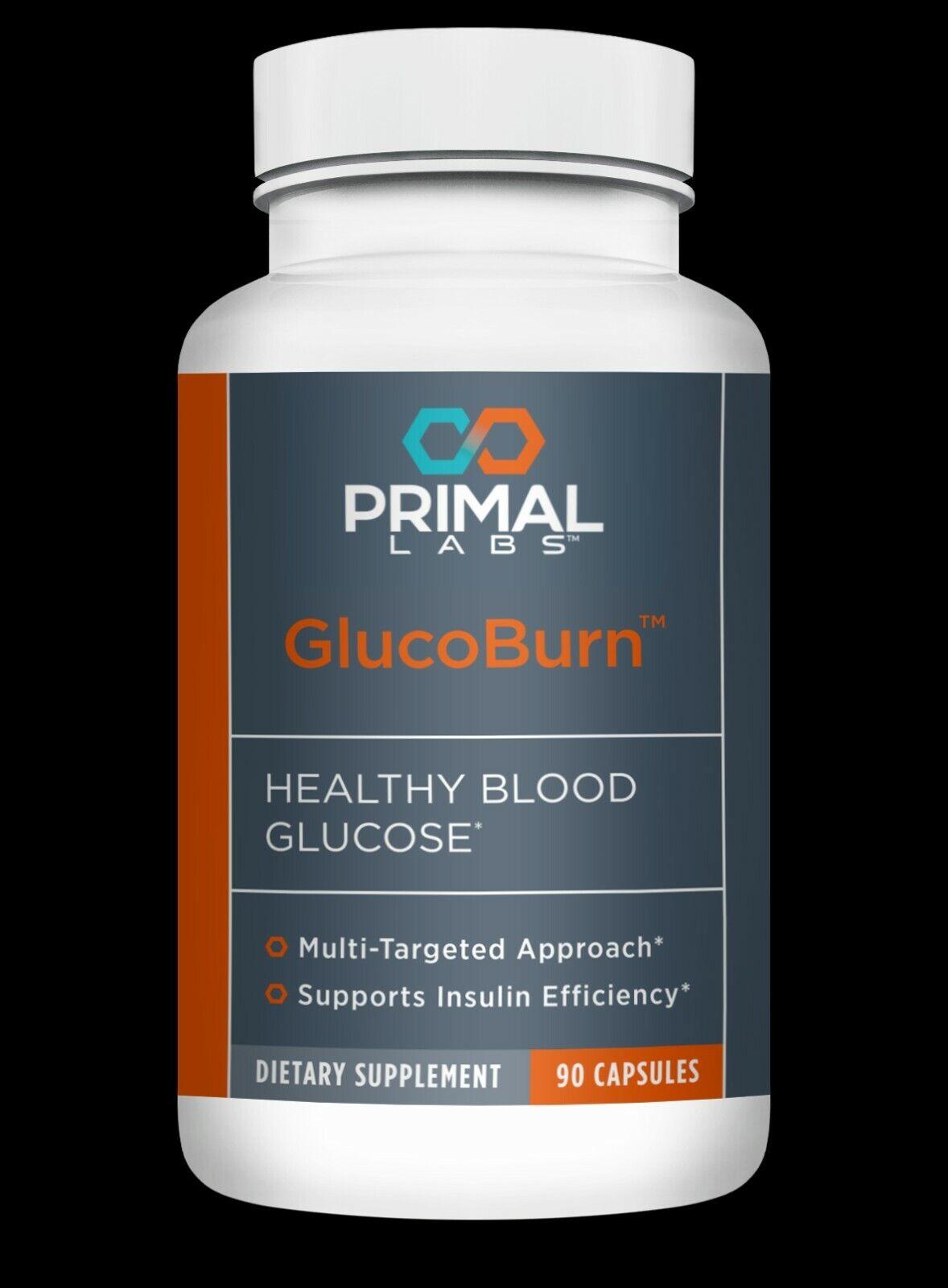 Primal Labs Gluco Burn Healthy Blood Glucose 90 Cap
