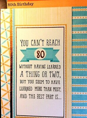 80TH HAPPY BIRTHDAY CARD AGE 80 Years HAPPY BIRTHDAY HALLMARK Choice of 11 - Happy 80th Birthday