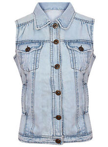 BRAND-NEW-LADIES-EX-DOROTHY-PERKINS-BUTTON-UP-DENIM-WAISTCOAT-JACKET-SIZE-8-16