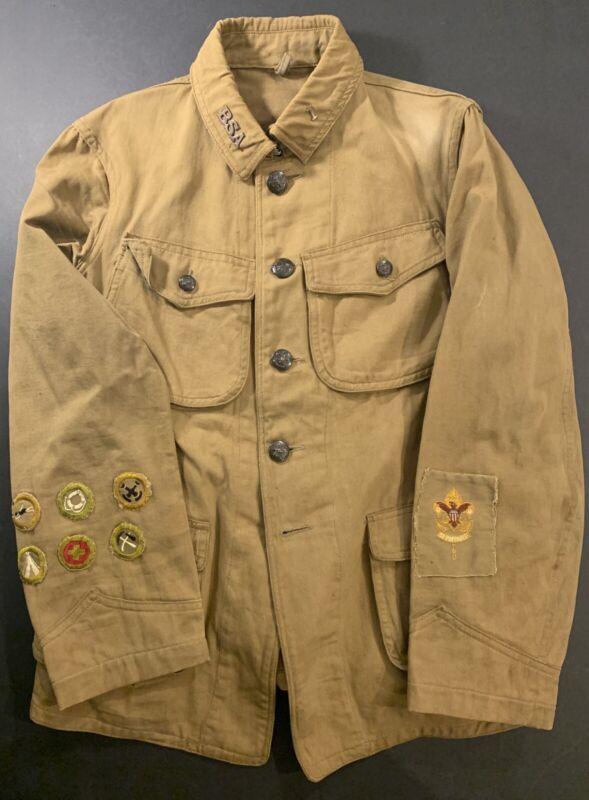 BEAUTIFUL Circa 1915 Boy Scouts Of America Eisner Jacket Coat Uniform Insignia