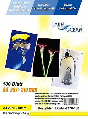 100 sheets Quality OHP  INKJET or LASER Printable A4 CLEAR ACETATE Transparent