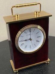 Howard Miller 613-528 Rosewood Bracket Table Quartz Clock