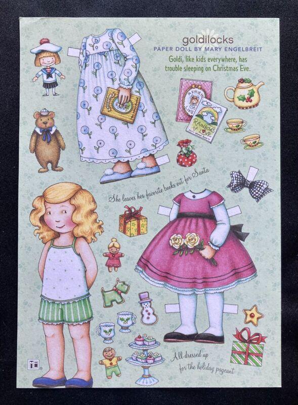 MARY ENGELBREIT Mag. Paper Doll, Goldilocks, Uncut