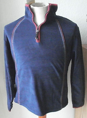 HKM Langarm  Kinder Fleece Pullover, blau, Gr. 116