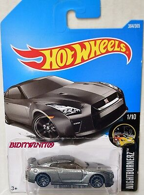 HOT WHEELS 2017 NIGHTBURNERZ '17 NISSAN GT-R (R35) GREY