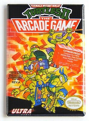 Teenage Mutant Ninja Turtles 2 FRIDGE MAGNET video game box nes