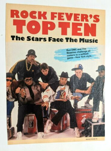 RUN D.M.C. / JAM MASTER JAY / BEASTIE BOYS / MAGAZINE FULL PAGE PINUP CLIPPING
