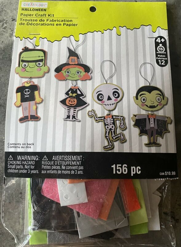 Creatology Halloween Paper Craft Kit 156 pcs Age 4+ New.