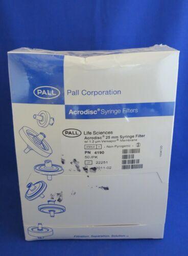 Pall Acrodisc Syringe Filters 1.2um Versapor Membrane 25mm # 4190 Pk/50