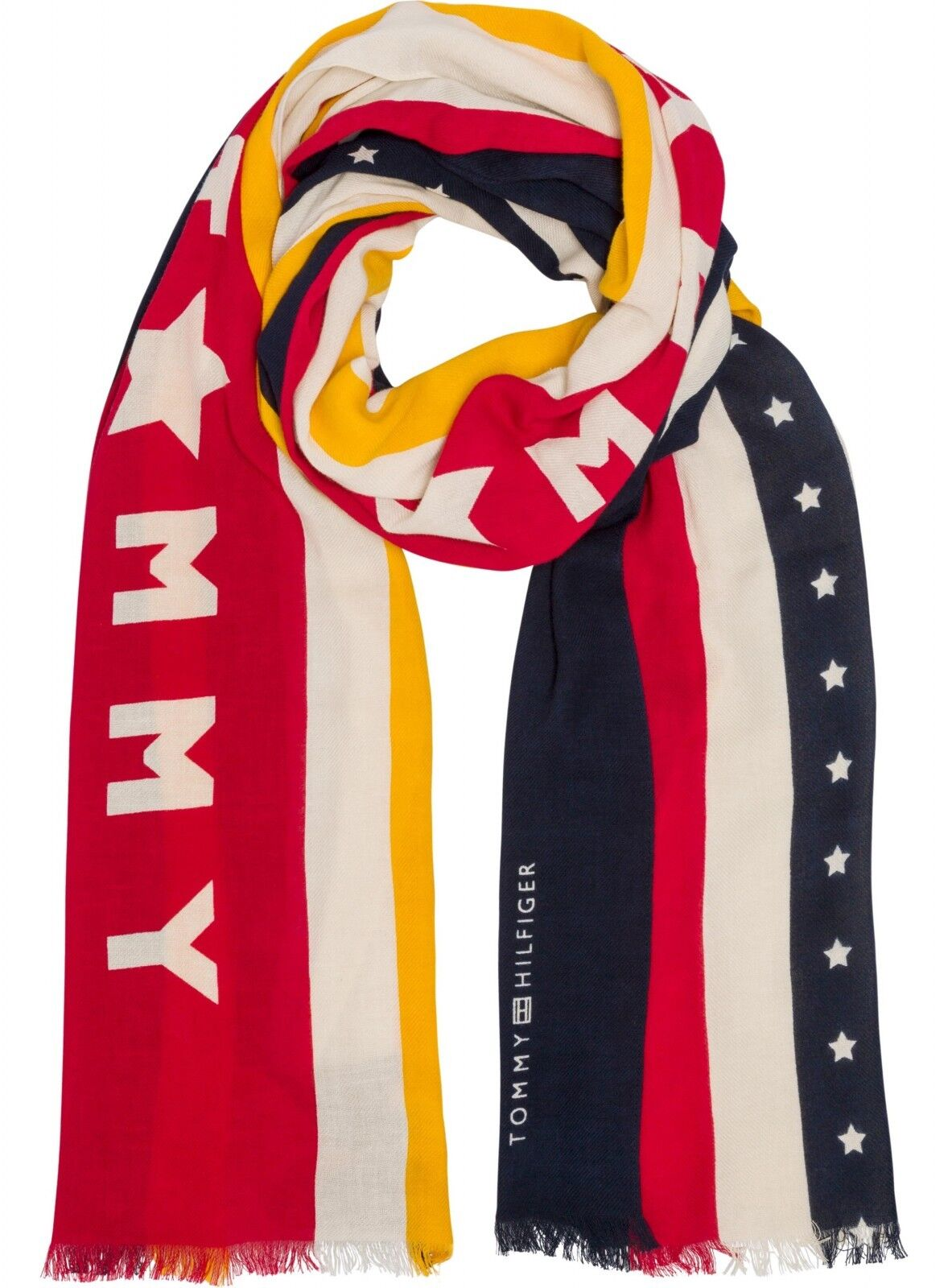 Tommy Hilfiger Shawl Striped Scarf Corporate