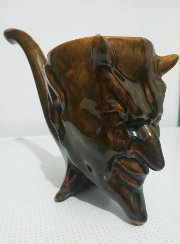 Mephistopheles Satan Devil USSR russian ceramic Figurine Ashtray Vintage 2955u