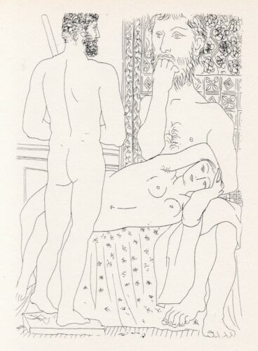 Pablo Picasso, Sculptor Recumbent Model, and Self Portrait Sculpture as Hercules