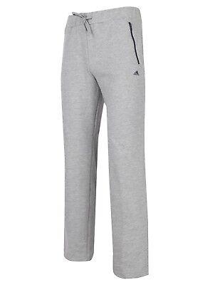 adidas Womens Essentials Open Hem Cotton Sweat Pants Jogging Tracksuit Bottoms Womens Open Bottom Sweatpants