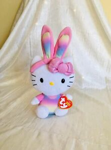 ADORABLE EASTER BUNNY HELLO KITTY WITH TAG!