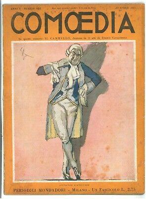 COMOEDIA RIVISTA NUMERO 8 1923 ANTONIO GANDUSIO ENRICO CAVACCHIOLI IL CAMMELLO