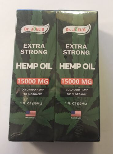 Dr Joel's Extra Strong Hemp Oil 15,000MG 2 Pack