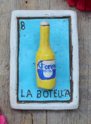Clay Loteria #8 La Botella - Bottle by Rafael Pineda Mexican Board Game Folk Art