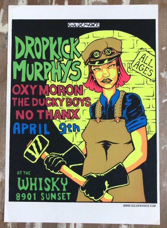 Dropkick Murphys  poster Whiskey On Sunset April 9 1999. West Hollywood  Murphy