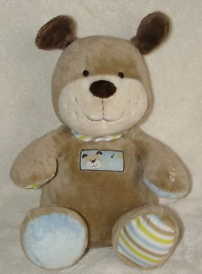 Carters Tan Brown Puppy Dog Sings Abc Song Musical Plush Baby Toy Stripe Feet