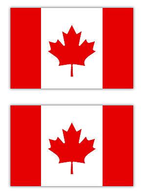 2x Aufkleber Kanada Canada Ahornblatt Flagge Fahne für Auto Motorrad etc. 5cm (Autofahne Kanada)