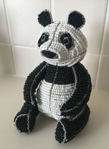 Handcrafted Glass Beaded Panda Bear