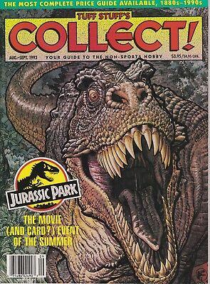 TUFF STUFF'S COLLECT AUG SEPT 1993 MAGAZINE JURASSIC PARK COVER