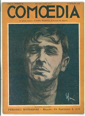 COMOEDIA RIVISTA NUMERO 2 1923 RUGGERO RUGGERI FAUSTO M. MARTINI L'ALTRA NANETTA