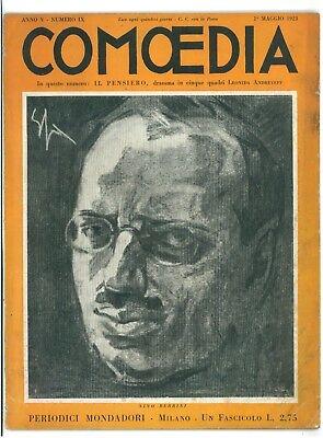 COMOEDIA RIVISTA TEATRO NUMERO 9 1923 NINO BERRINI LEONIDA ANDREYEFF IL PENSIERO
