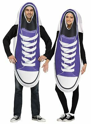 Funny Pair Of Sneakers 2 Adult Couples Costume Running Shoes Humorous Halloween](Funny Halloween Costumes Pairs)