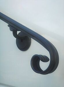 3 Ft Wrought Iron Wall Rail Hand Rail Stair Railing Made in the USA