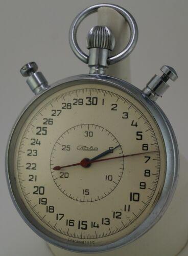 Vintage Mechanical SPLIT Stopwatch SLAVA Chronometer made in USSR Soviet Russian