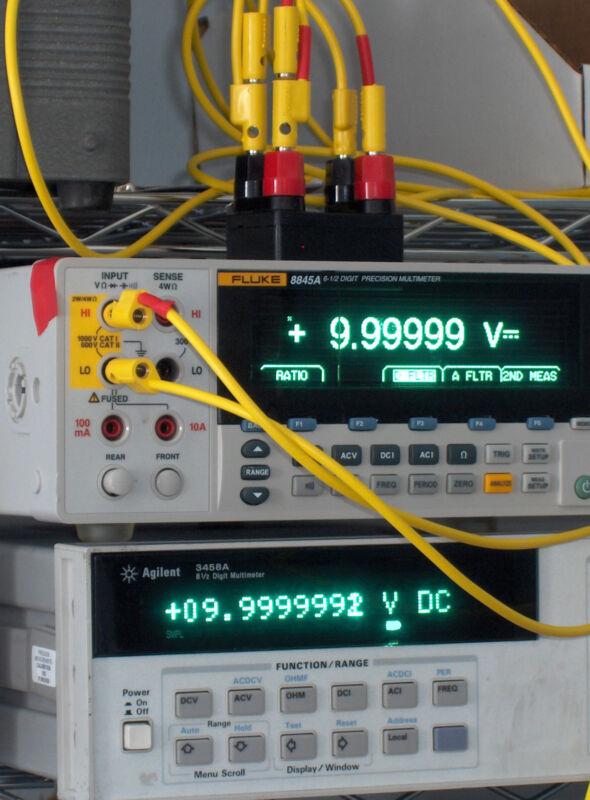 10 Volt 10 V DC  Prec. Voltage Reference Standard, Nulled to Fluke 732A or 732B
