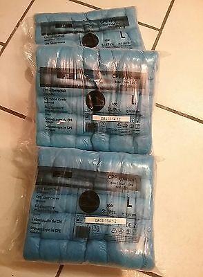 Überschuh aus CPE blau 3 Beutel /a 100 Stück Einweg Schuhüberzieher Überschuhe