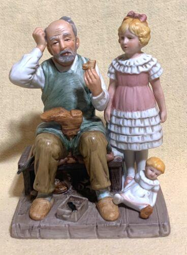 "1981 Norman Rockwell Figurine ""The Shoemaker"" — Original Box — Never Displayed"