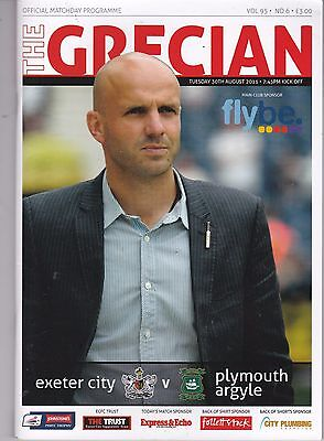 EXETER CITY V PLYMOUTH ARGYLE JP TROPHY 30/8/2011