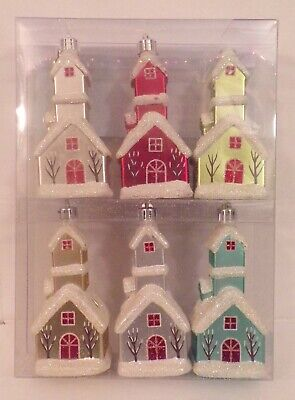 Martha Stewart Frosted Traditions Christmas Ornaments Church NEW IN PACKAGE