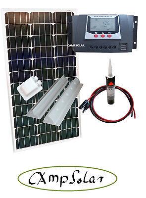 100 Watt Solaranlage Solarmodul 12V Wohnmobil 30 Ampere Laderegler WP