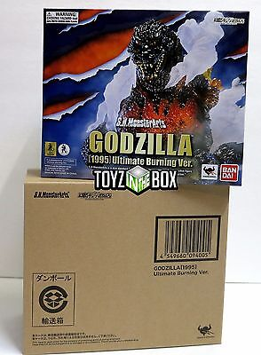 """In STOCK S.H. Monster Arts """"1995 Ultimate Burning Godzilla""""Action Figure"""