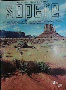 SAPERE-U-HOEPLI-EDIT-N-595-596-OTT-1959-L-039-Uomo-e-lo-Spazio