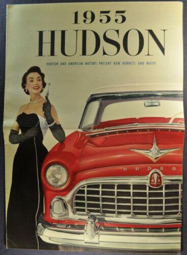1955 Hudson Brochure Folder Hornet Wasp Hollywood Hardtop Excellent Original 55