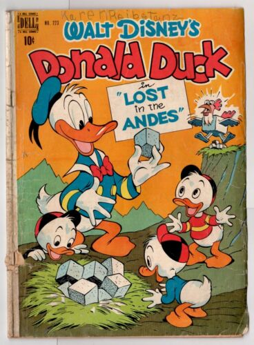 Dell Four Color #223 (1942 Series) Donald Duck by Carl Barks 1949 GD-