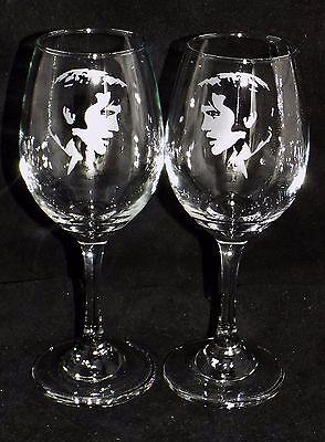 "New Etched ""ELVIS PRESLEY WINE GLASS(ES) - Choose 1 or 2 - Optional Gift Box"