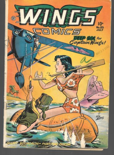 Wings Comics #83 July 1947 Fiction House GGA Good Girl Art Captain Wings