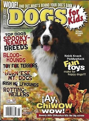 Dogs for Kids magazine Spooky named breeds Best toys Beverly Hills