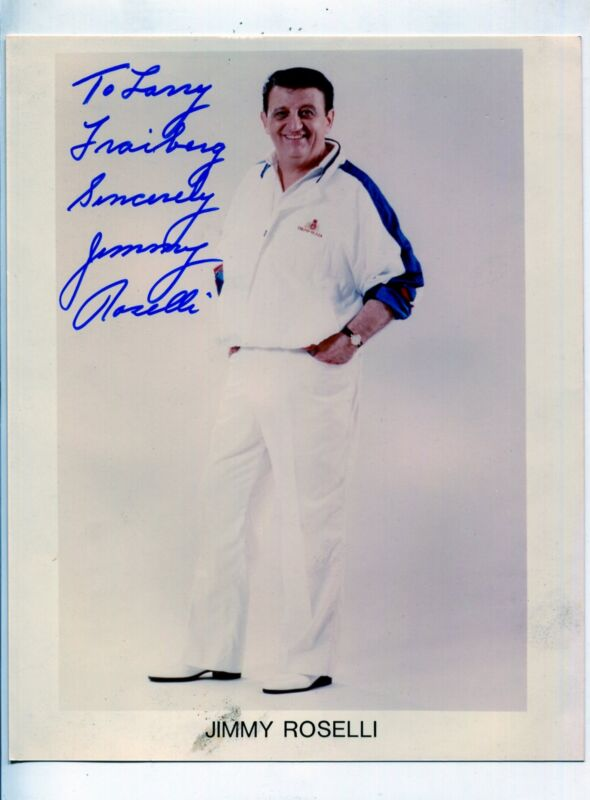 Jimmy Roselli-Autographed-8x10-Color-Still
