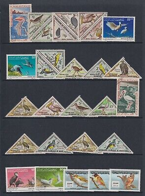 Mauritania - Small Collection of 51 x Bird Stamps - Mint & Used