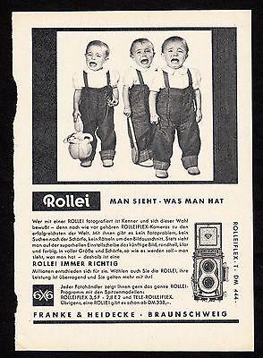 3w1663/ Alte Reklame von 1960 - ROLLEI - Franke & Heidecke - Braunschweig