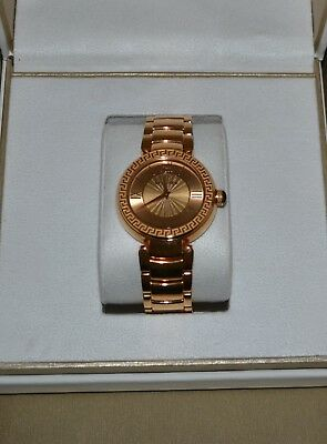 VERSACE VNC060014 LEDA ANALOG DISPLAY SWISS QUARTZ ROSE GOLD TONE WATCH $1295.00